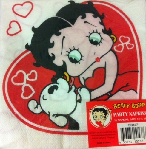 Betty Boop Hearts And Pudgy Lunch Napkins - 16ct