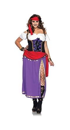 Amazon.com  Traveling Gypsy Costume - Plus Size 3X 4X - Dress Size 22-26   Clothing 2bd7e5806e5c