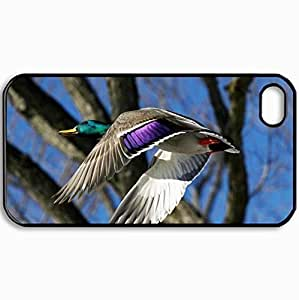 Personalized Protective Hardshell Back Hardcover For iPhone 4/4S, Flying South Design In Black Case Color