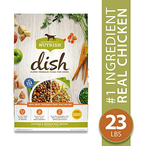 Rachael Ray Nutrish Dish Premium Natural Dry Dog Food, Chicken & Brown Rice Recipe with Veggies & Fruit, 23 Lbs (Natural Dish)