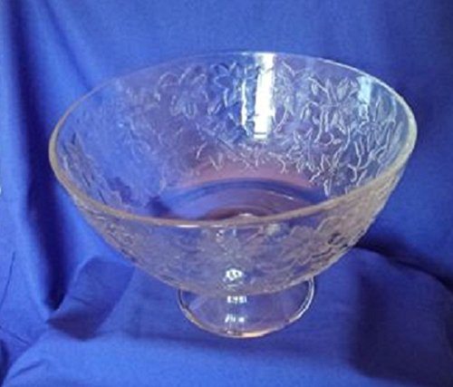 (PRINCESS HOUSE FANTASIA PEDESTAL CLEAR LARGE SALAD SERVING BOWL)