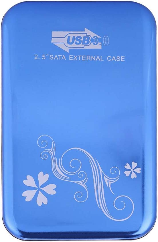 External HDD Enclosure 6Gbps USB3.0 to SATA3.0 for 2.5in and 2TB Desktop SATA HDD and SSD. Blue