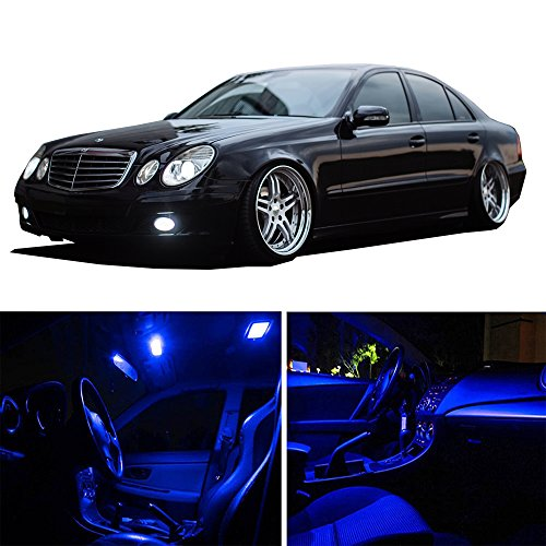 cciyu 8 Pack Blue LED Bulb LED Interior Lights Accessories Replacement Package Kit Replacement fit for 2006-2011 Buick Lucerne