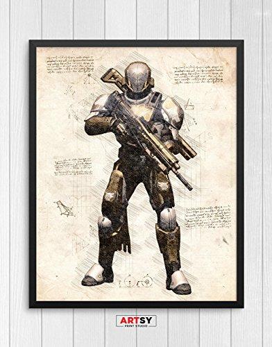 Destiny print, Destiny poster, Titan poster, Gaming Room Decor, Game Art, N.005 (8 x 10 (Destiny Decor)