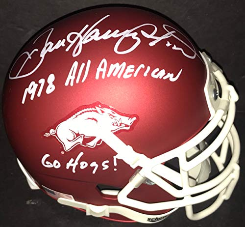 Dan Hampton Arkansas Razorbacks Autographed Signed Mini Helmet 1978 All American Go Hogs