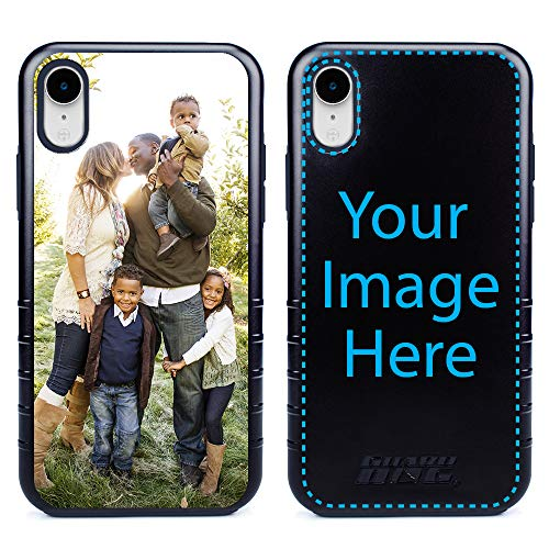 Custom iPhone XR Cases by Guard Dog - Personalized - Make Your Own Rugged Hybrid Phone Case. Includes Guard Glass Screen Protector. (Black, Black) (Best Custom Iphone Cases)