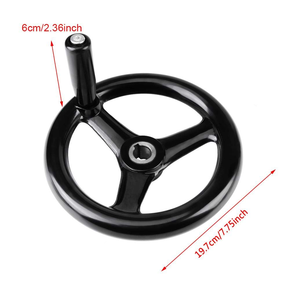3-Spoke Plastic Hand Whee with Revolving Handle for Milling Machine