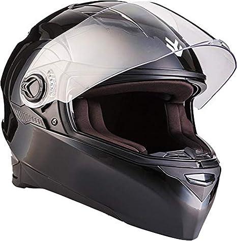 "MOTOHelmets/® F19 /""Gloss Black/"" /· Motorrad-Helm /· Klapp-Helm Modular-Helm Flip-up Integral-Helm Motorrad-Helm Roller-Helm Full-Face Scooter-Helm /· ECE Sonnenvisier Schnellverschluss Tasche S 55-56cm"