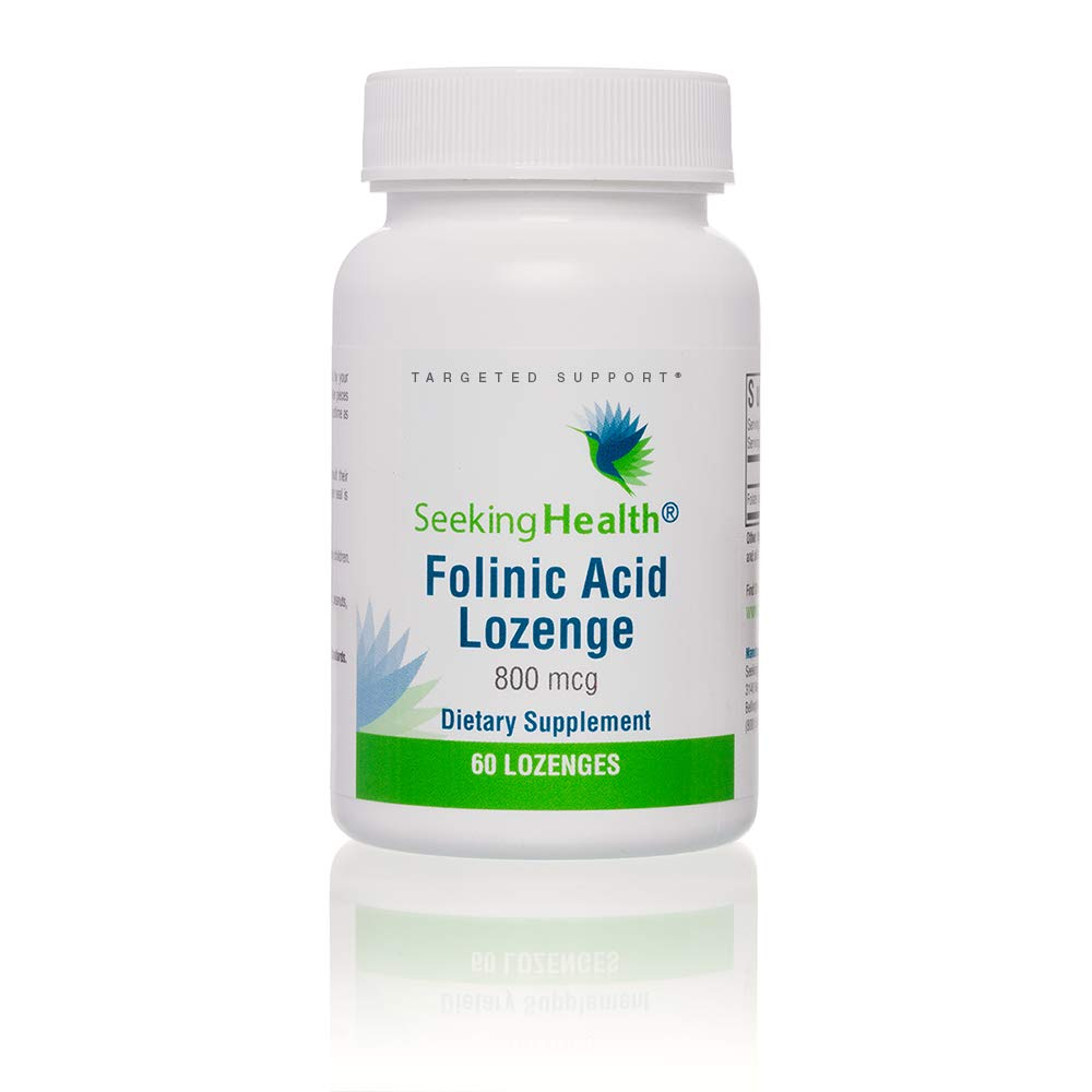 Seeking Health | Folinic Acid Lozenge | 60 Lozenges | Folic Acid 800 mcg | Vitamin Lozenge
