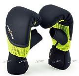MaxxMMA Neoprene Washable Heavy Bag Gloves - Boxing Punching Training (Neon Yellow, L/XL)
