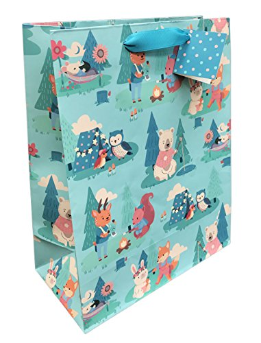 Camping Creatures Gift Bag for these Fun Camping Wrapping Paper And Creative Gift Wrap Ideas
