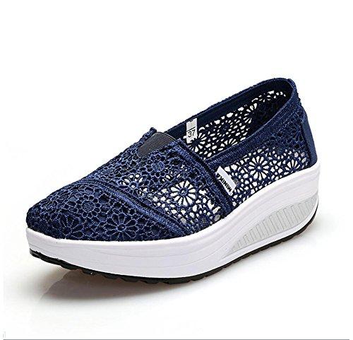 Shake Shoes Shaking Mocassini F Platform Taglia Athletic Primavera Da Loafers F Sneakers Flat colore Fitness on Donna Xue E Guida 36 Autunno Scarpe Canvas Slip pYO77S