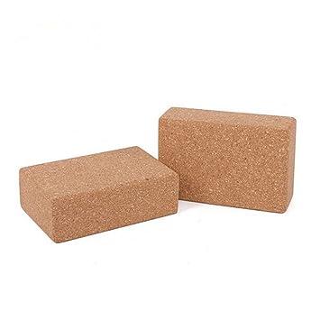 ZHHWYP Yoga Block Cork - Fabricado ecológicamente - 2 Piezas ...