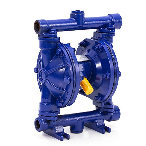 Air Inlet OutPetroleum QBY-15Z Industrial Use 12GPM Blue SOFEDY Air-Operated Double Diaphragm Pump for Water Oil Petrol Waste 115 PSI 1//4in