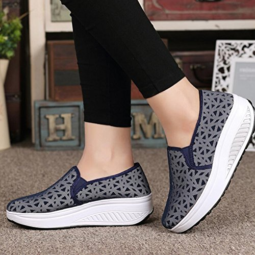 Athletic Shaking Da Guida Sneakers Donna Scarpe E Slip Mesh Flat Fitness Xue Platform Primavera C Loafers Shake Mocassini Shoes guida Autunno fqUgwn6