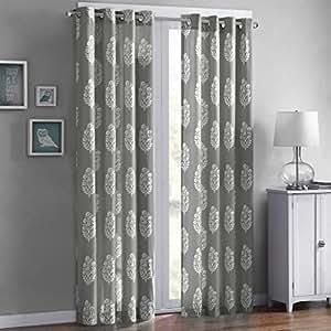 Adwin Printed Window Curtain Grey 84 Panel