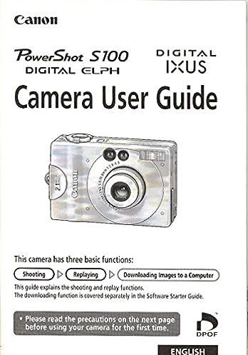 canon powershot s100 digital elph ixus original user guide canon rh amazon com Canon PowerShot S100 Manual Canon PowerShot S100 Drivers
