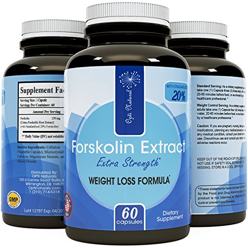 Premium Coleus Forskolin Root Extract for Weight Loss Supplement Powerful Antioxidant Appetite Suppressant Burn Fat Quicker All Natural Detox Increase Energy Boost Metabolism for Men and Women 250 mg - Forskohlii Root Extract