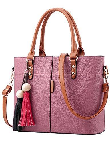 Menschwear Handbag Bolsos De Moda Hombro Diagonal Paquete Bolso Ladies Rojo Rosa