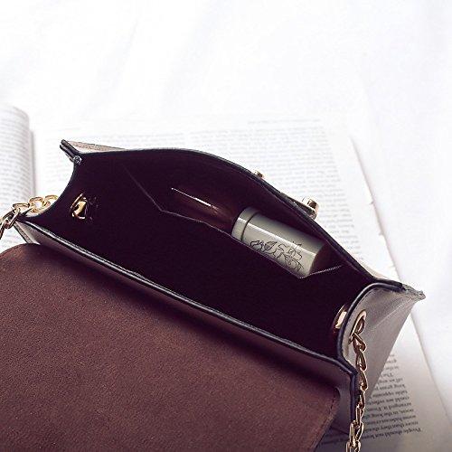 Negro Marrón Negro Botones Bolsos de GMYAN de PU Mujer Negro la Hombro Bolsa para Panp7qxwf
