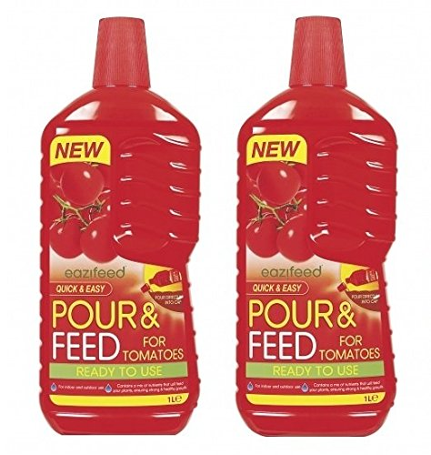 2 x Eazifeed Pour & Feed For Tomatoes Ready To Use Tomato Food Nutrients Mix 1L 151