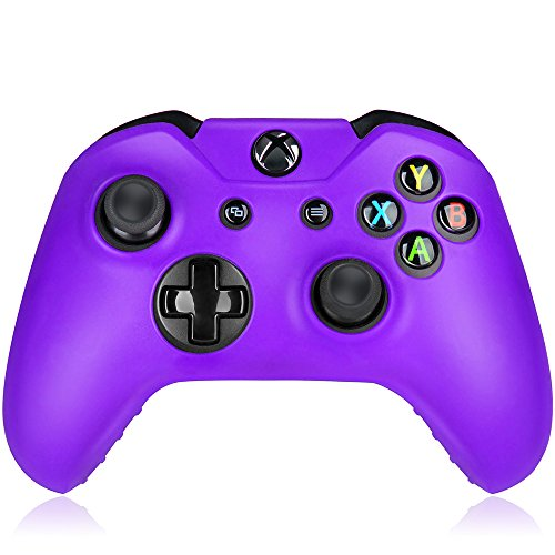 Flexible Silicone Protective Case skin For Xbox One Game Controller Console(Purple)