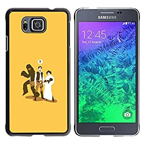 Paccase / SLIM PC / Aliminium Casa Carcasa Funda Case Cover para - Monkey Baby Marriage Funny Cheating - Samsung GALAXY ALPHA G850