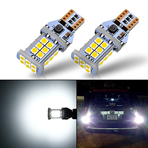 Pack of 2 3157 LED Bulb Reverse Light Bulbs 2800 LM 6500KXenon White Extremely Bright 144-SMD 3156 3057 3056 4157 LED Bulbs 9-30V with Projector for Backup Reverse Lights,Tail Brake Lights