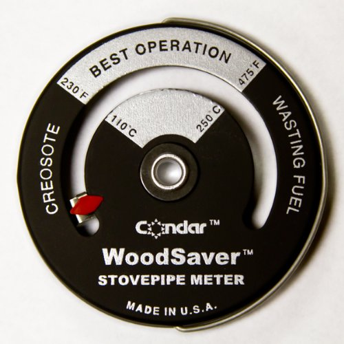 (WoodSaver Stove Pipe Thermometer Model 3-16)
