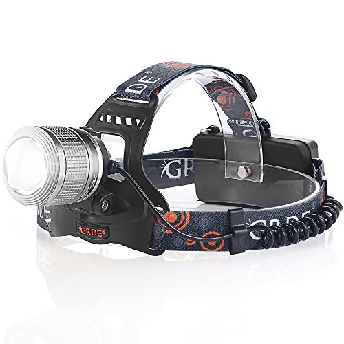 Ultra Bright Headlight Floodlight Flashlight Rechargeable