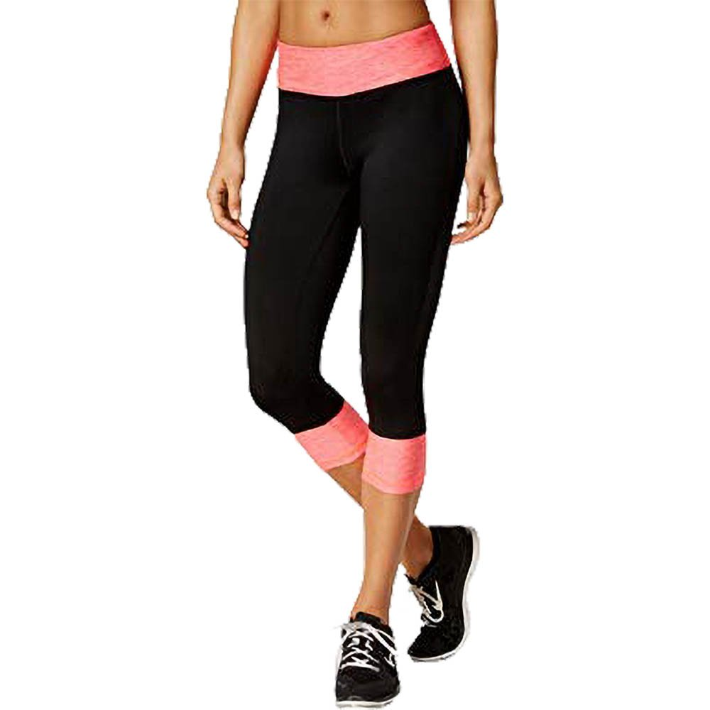 250f1b2522999e Ideology Rapidry Colorblocked Performance Capri Leggings, Coral Speed,  X-Small at Amazon Women's Clothing store: