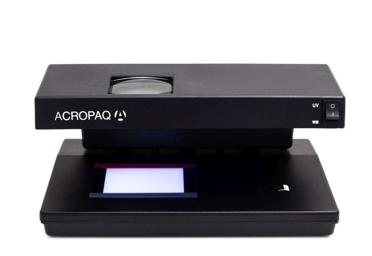 Acropaq ct584più rilevatore di banconote false controllo su UV filigrana MG 12004