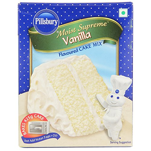 Pillsbury Moist Supreme Flavoured Cake Mix, Vanilla, 225g