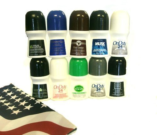 Avon Assorted Deodorants for Men with American Flag Bandana