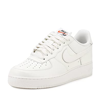 3a5c7f4b56e0 NIKE Mens Air Force 1  07 QS Swoosh Pack Sail Leather Size 13