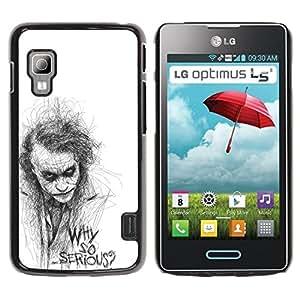 For LG Optimus L5 II Dual E455 E460 Case , So Serious Sketch Movie Character - Diseño Patrón Teléfono Caso Cubierta Case Bumper Duro Protección Case Cover Funda