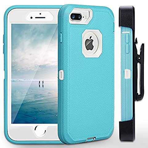 iPhone 7 Plus Case,iPhone 6s Plus Case FOGEEK [Dust-Proof] Belt-Clip Heavy Duty Kickstand Cover [Shockproof] Rugged Armor PC+TPU Shell for Apple iPhone 7 Plus,iPhone 6/6s Plus 5.5 Inch(Blue and (Iphone 6 Case Armor Rugged Black)