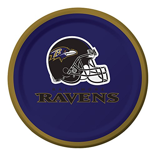 Paper Ravens Baltimore (Creative Converting Officially Licensed NFL Dessert Paper Plates, 96-Count, Baltimore Ravens)