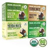 Cheap Organic Yerba Mate Tea Bags – Variety Pack – Mate Cocido – Natural Detoxifier – 80 Tea Bags – 20 of Each Flavor (2 grams each) Kiss Me Organics