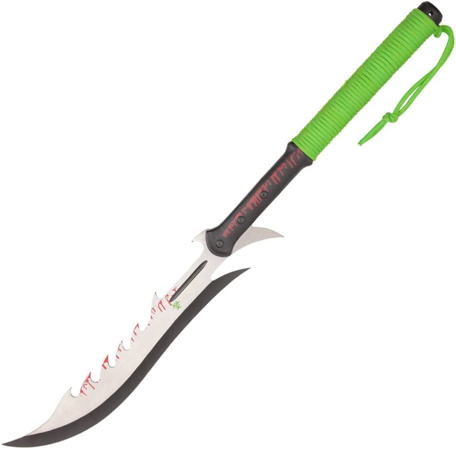 Biohazard 27.25 Inches Zombie Survival Hunting Machete Knife