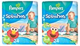 Health & Personal Care : Pampers Splashers Swim Disposable Diapers, Size 3-4, 24 Count (Pack of 2)