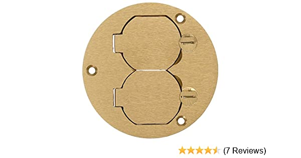 2//LOT RACO Round Floor Box Cover Kit with Two Lift LidsSolid Brass