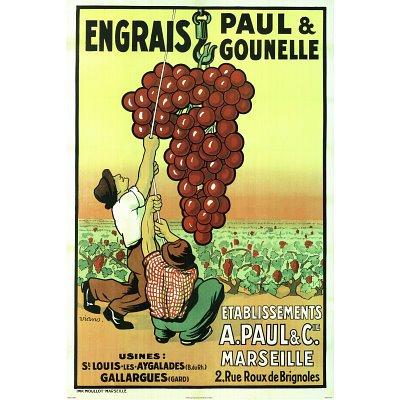 Engrais Paul and Gounelle Vintage Poster Art Print