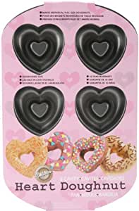Amazon Com Wilton Nonstick 6 Cavity Heart Donut Pan