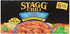 Hormel Chili with Beans is great for a quick meal, in dips, pour-overs or on a hot dog. With six 15-oz. easy-open cans in each pack, this hearty chili is great to keep on hand for an easy lunch or dinner.