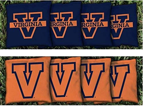 - Victory Tailgate NCAA Collegiate Regulation Cornhole Game Bag Set (8 Bags Included, Corn-Filled) - Virginia UVA Cavaliers Wahoos