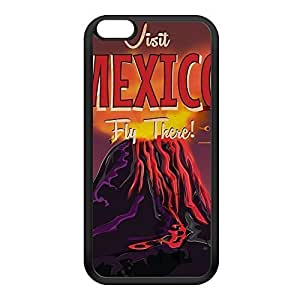 Mexico Black Silicon Rubber Case for iPhone 6 Plus by Nick Greenaway + FREE Crystal Clear Screen Protector