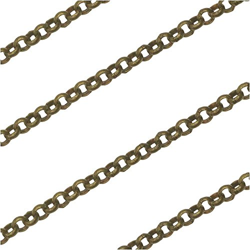 - Antiqued Brass Rolo Chain 2mm Bulk by The Foot