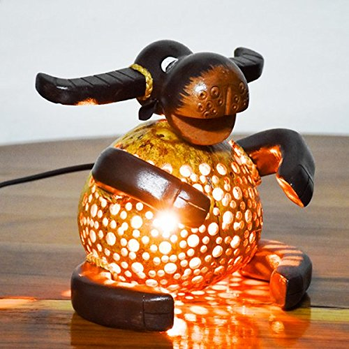 Coconut Shell Lamp - Buffalo Lamp night Wooden Crafts Handmade decorative by Coconut Shell Lamp (Image #2)