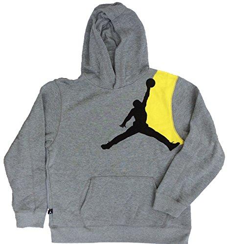 Jordan Boys' (8-20) Nike Jumbo Jumpman Pullover Hoodie-Heather Gray-Large